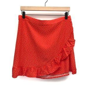 New Garage Sierra Furtado Red Dot Skirt - Size L